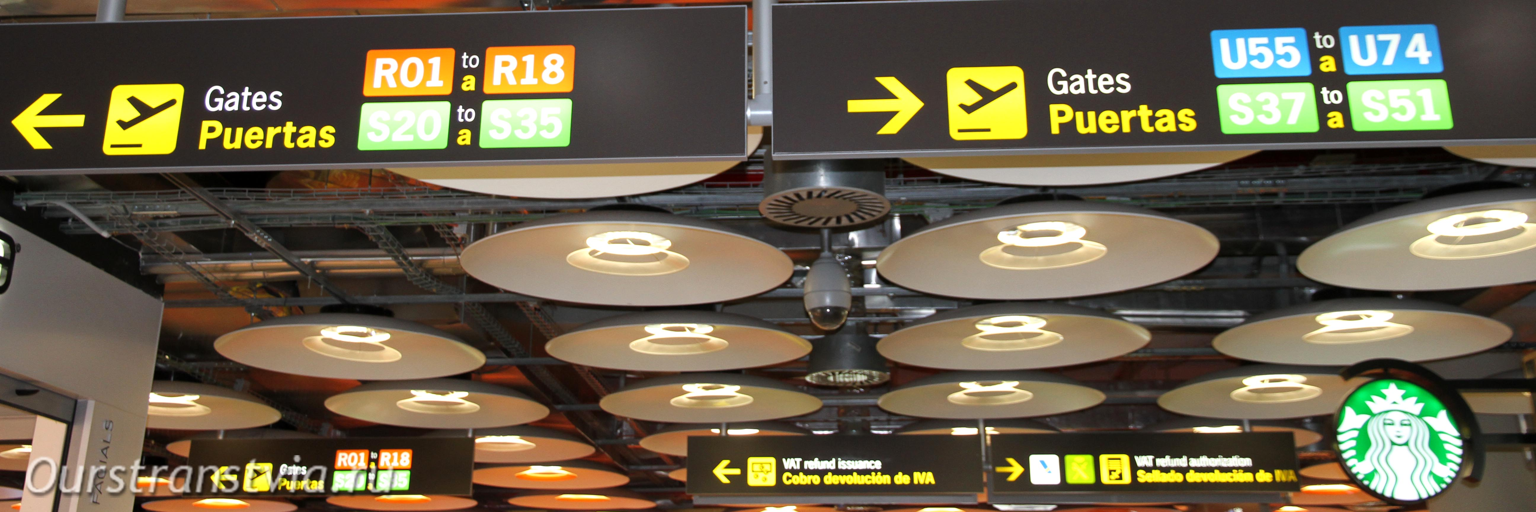 Пересадка между терминалами T4S и T4 в Мадриде